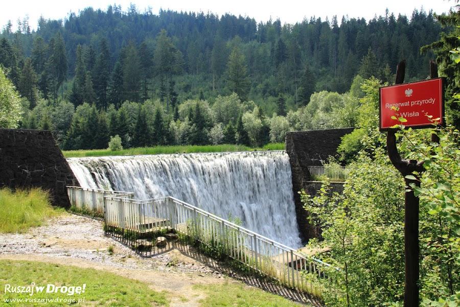 Wisła - wodospad w rezerwacie przyrody