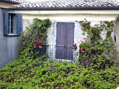 Ivy-covered house in San Marino