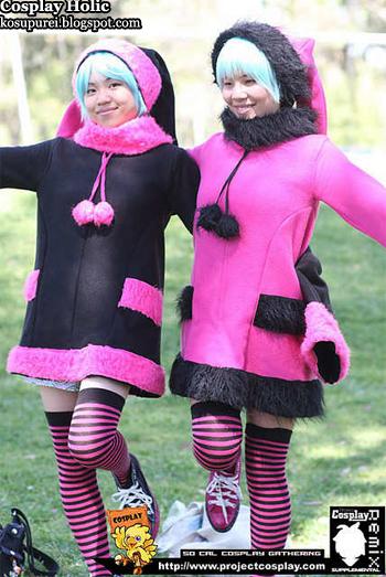 dogs cosplay - luki and noki