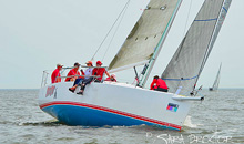 J/111 Bad Cat rounding windward mark