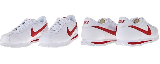 new styles 9d3ea faa80 Nike Cortez White Leather Red Swoosh smithland.co.uk