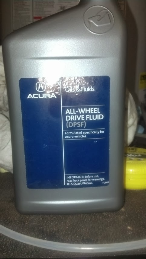 Rear Differential Fluid Replacement - AcuraZine - Acura Enthusiast Community