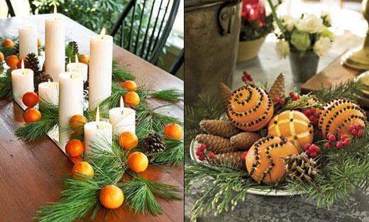 Новогодние композиции с апельсинами