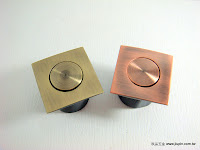 裝潢五金 品名:方型伸縮暗把手 規格:28MM 顏色:青古/紅古銅 玖品五金