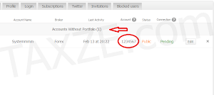 setup account Myfxbook