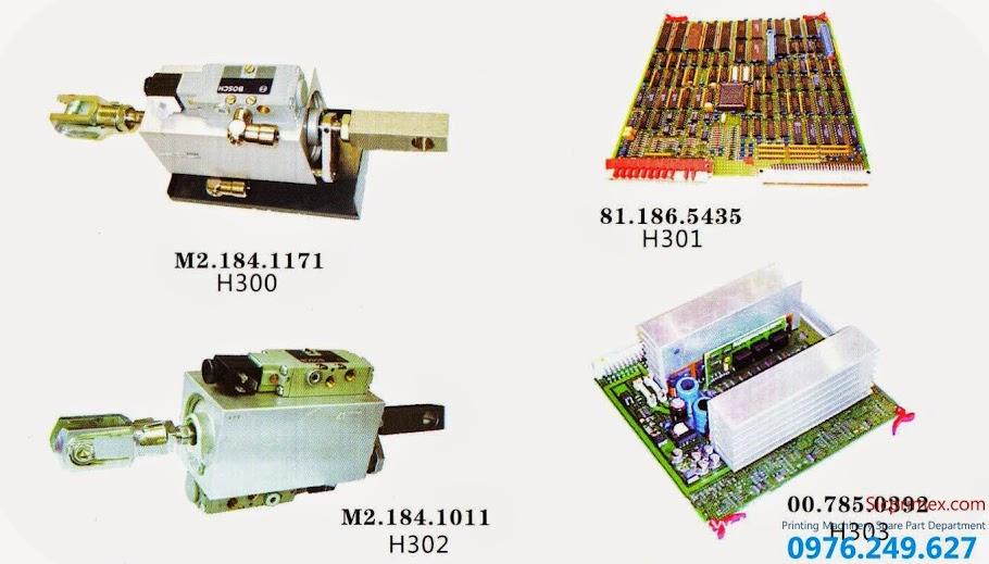 Bảng báo giá linh kiện, phụ kiện ngành in nhập khẩu chính hãng H300-303