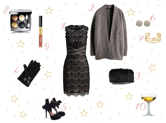 Christmas Eve outfit, what to wear during the holiday season, formal look ideas, little black dress, elegant outfit