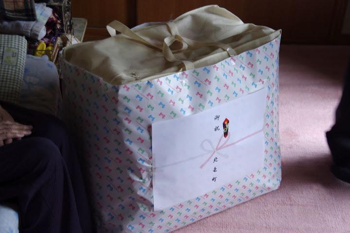 写真:町からの贈り物・羽布団