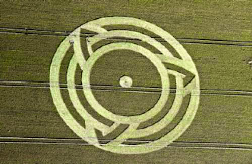 The Triquetra Crop Circle Milk Hill Wiltshire 6Th July 2011