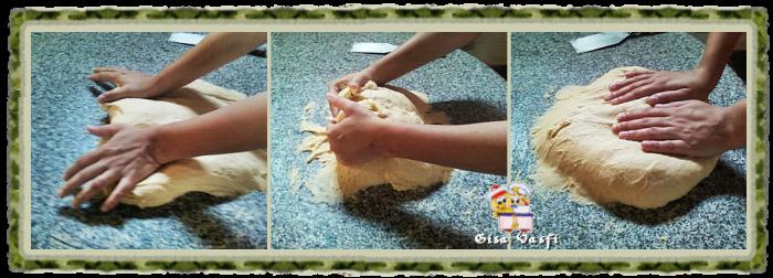 Sovando a massa de pão