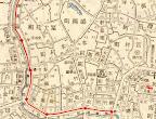 大正2年東京史地図の  仙華園