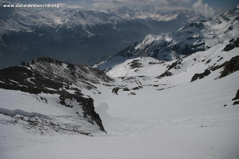 Avalanche Vanoise, secteur Dent Parrachée, Pointe de Bellecôte - Accés col des Hauts - Photo 1 - © Duclos Alain