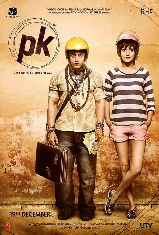 Poster Of Hindi Movie PK (2014) Free Download Full New Hindi Movie Watch Online At Alldownloads4u.Com