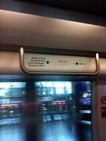 метро в аэропорту Цюриха
