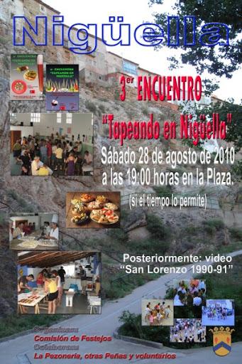 Cartel de anuncio de las tapas en Nigüella