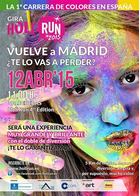 Abiertas las inscripciones para Holi Run Madrid