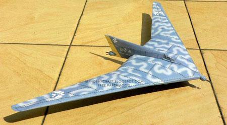 Horten Ho Papercraft Jet Bomber