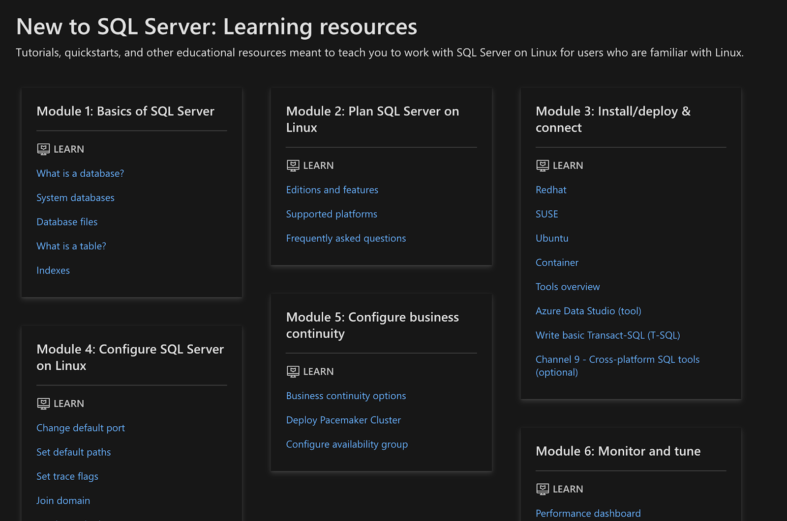 Learn SQL Server: Courses, Resources and Tutorials