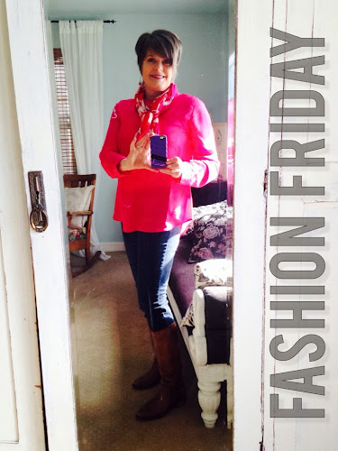 Fashion Fridays, fashion for 50 something's, pink tunic, the style sisters