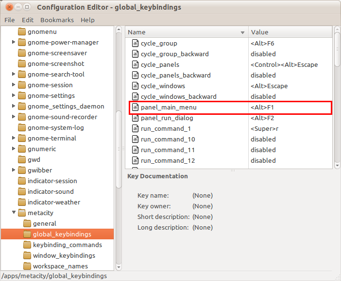 Jendela 'Configuration Editor'