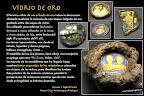 Vídrio dorado o fondo de oro. Cultura romana
