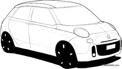 Fiat 500L design sketch 3