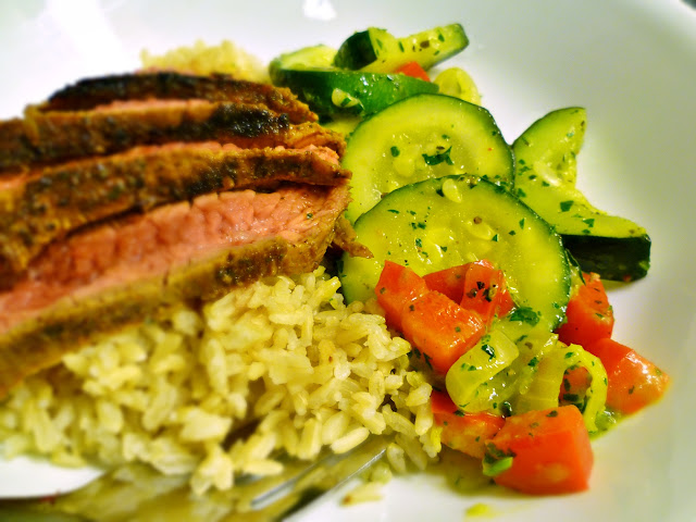 Argentinian Steak with Chimichurri Tossed Vegetables