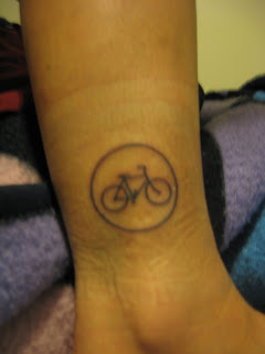 Portland Bicycle Road Sign Tattoo