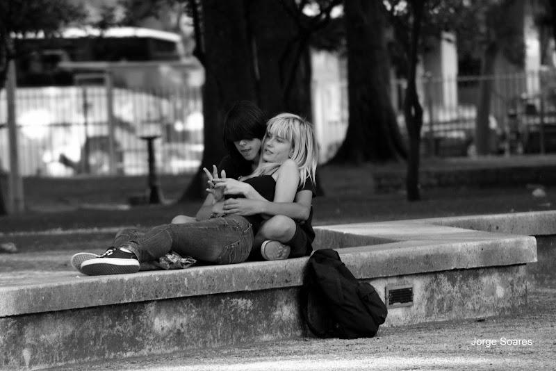 Namora-se no jardim do Bonfim