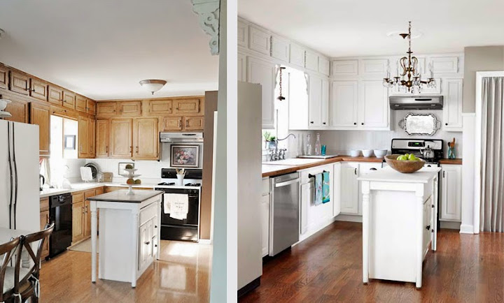 17 kreative vorher nachher k chenumbauten. Black Bedroom Furniture Sets. Home Design Ideas