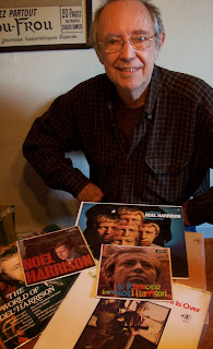 Noel Harrison with some of his records in 2011. Picture by www.thewindmillsofyourmind.com