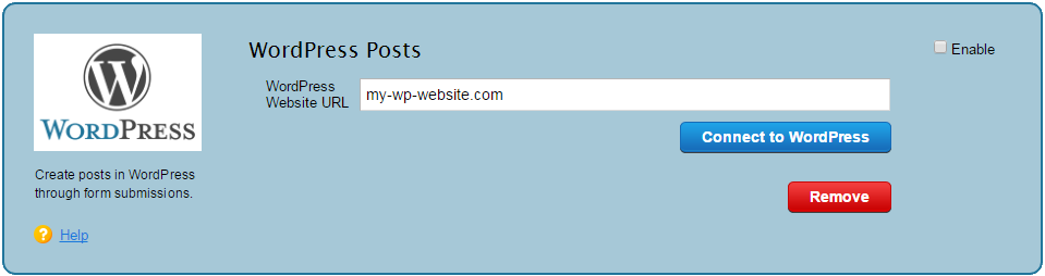 create wordpress posts via contact form