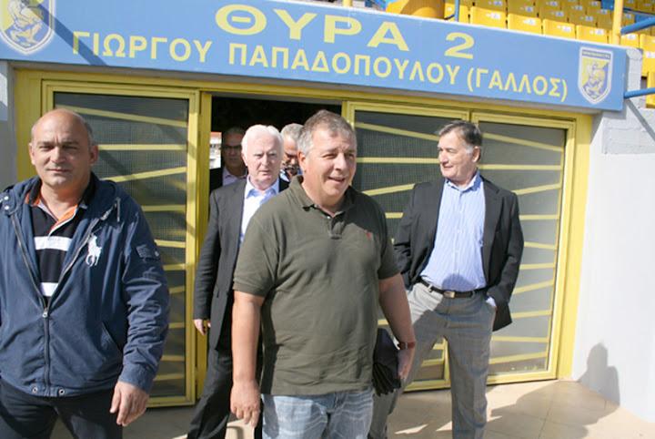 Επίσκεψη του κ. Μπιτσαξή στο γήπεδο Παναιτωλικού και το EMILEON SportCenter.