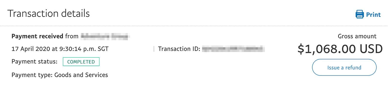 freelance digital marketing payment example