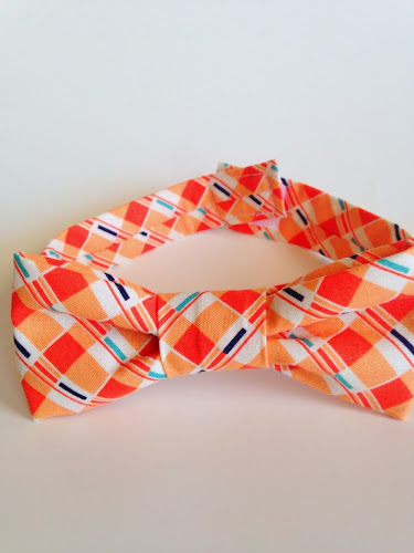 Orange bow tie, boys bow ties