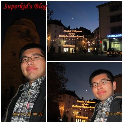 我在Feldkirch舊城門口。