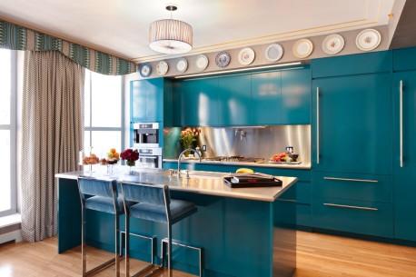 Tampil Berbeda Dengan Desain Dapur Warna Biru