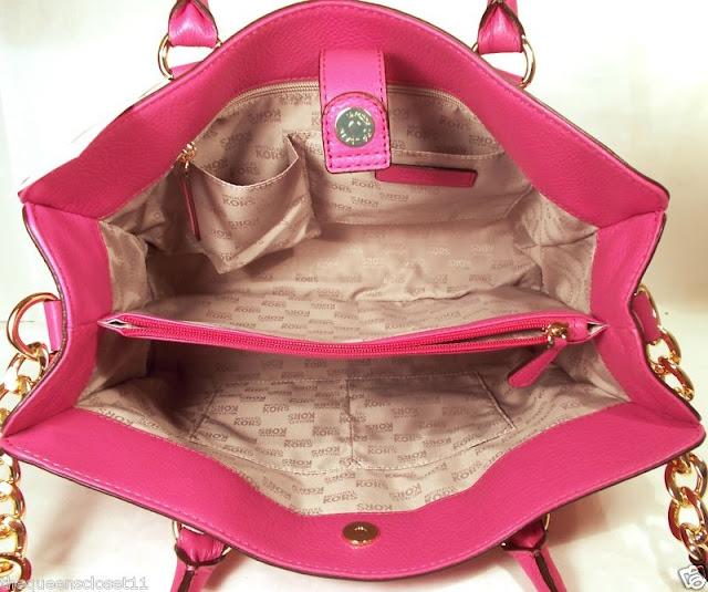 Michael Kors Hamilton Large Ew Tote Hand Bag Shoulder Purse Nwtzinnia Pink