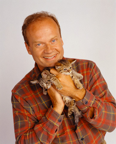 Kelsey Grammer and two cats