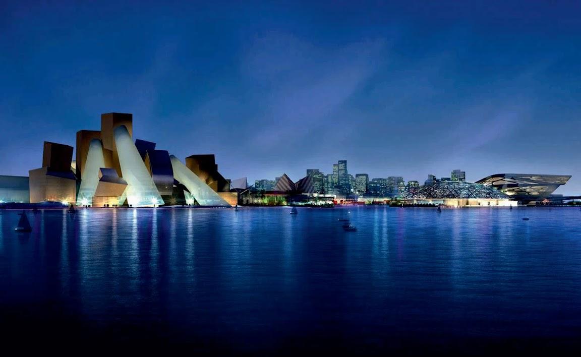 Guggenheim Abu Dhabi design by Frank Gehry