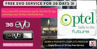 PTCL EVO 3G offer: Free Usage for a Month