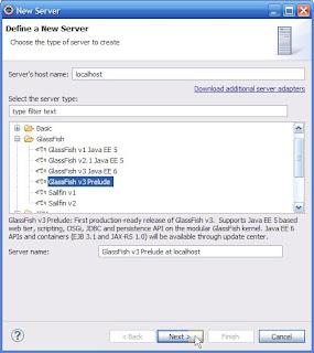Select new server