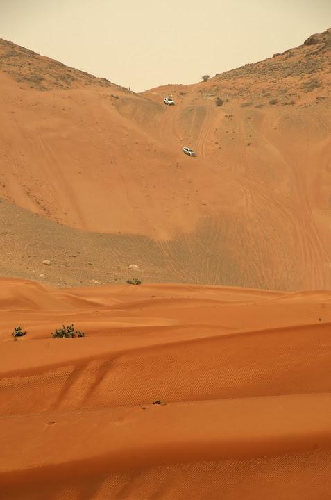 The saddle at Jebel Maleiha