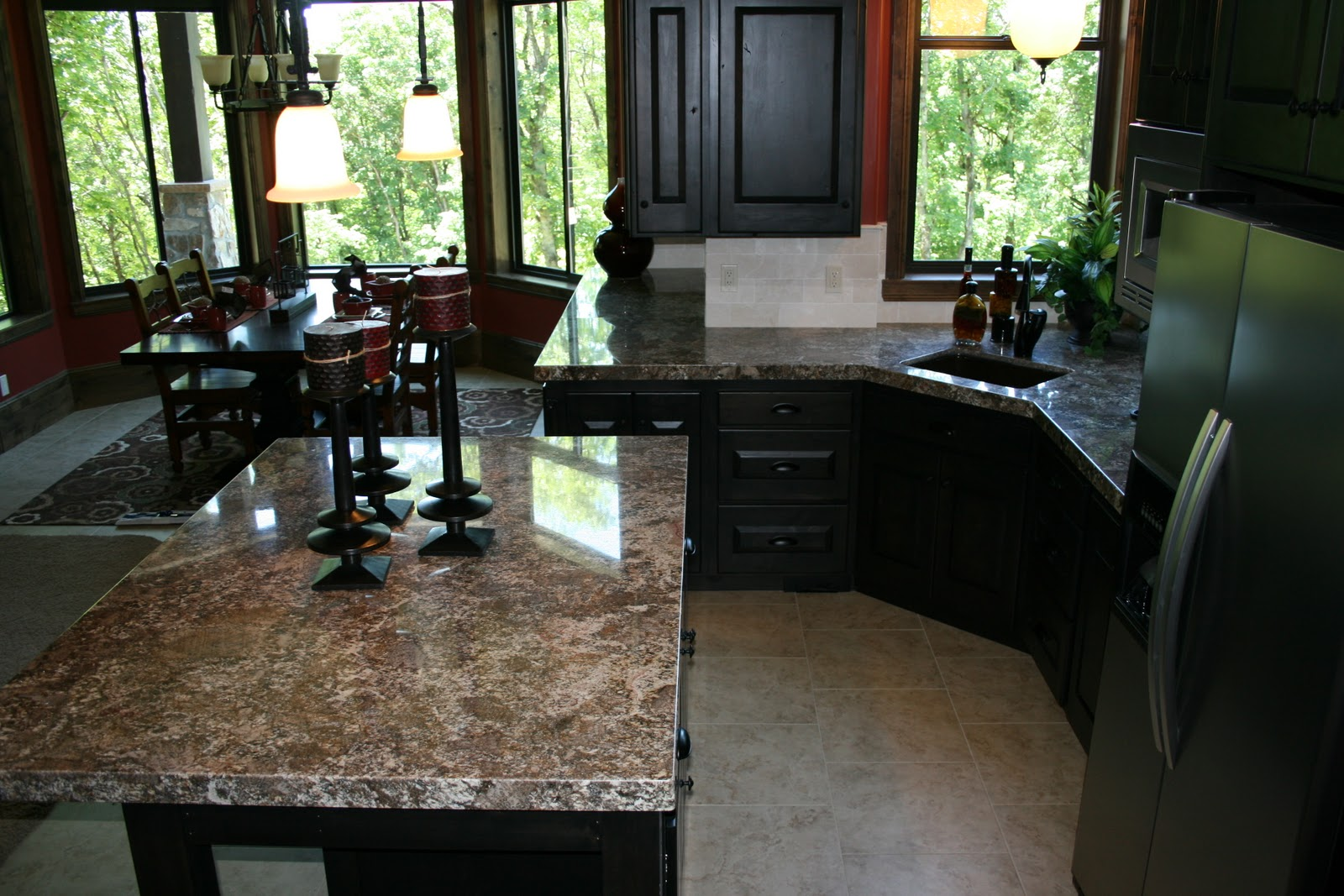 Today I Thought Iu0027d Show This Downstairs Kitchen From Our Portfolio. We Did  The Countertops In This Parade Home A Couple Of Years Ago.