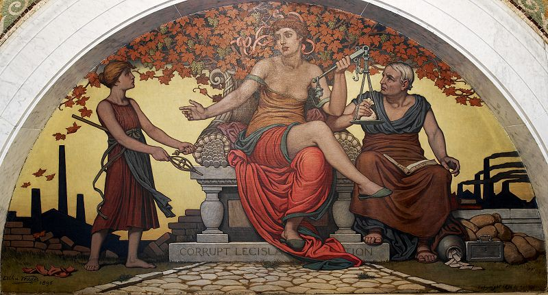Elihu Vedder - Corrupt Legislation