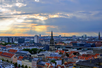 Copenhagen from the Church of Our Savior