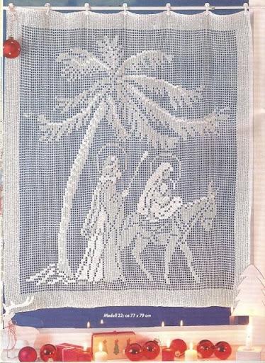 cortinas tejidas navideñas 8