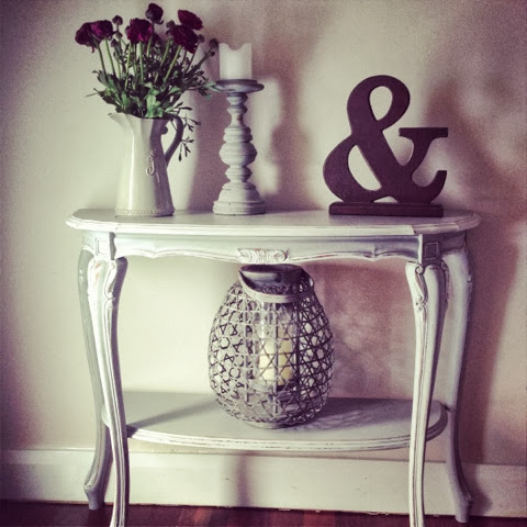 French style hall console Paris Grey and white
