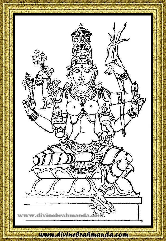 Soundarya Lahari Sloka, Yantra & Goddess For Ability To Write Poems and Ability To Become Scholar - 15