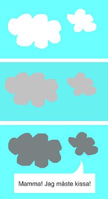 moln, humor, serie, barnsinne, kissa